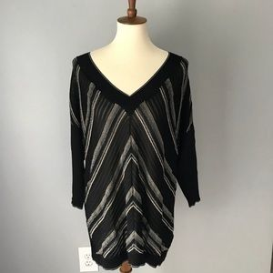 Coldwater Creek metallic v neck sweater